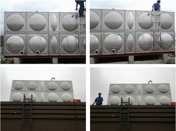 九华金水湾项目部---拼装式不锈钢消防水箱